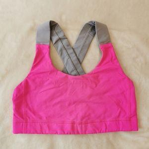 Lululemon high impact sports bra neon pink size 6